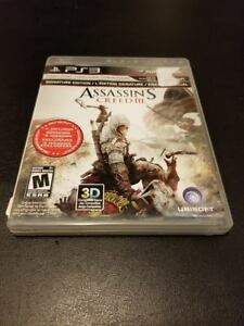 Assassin's Creed III -- SONY PS3 PLAYSTATION -- A+ CONDITION