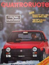 Quattroruote 317 1982  - test Renault 9 1100 e 1400 & ALfetta 1600 e 200   [Q36]