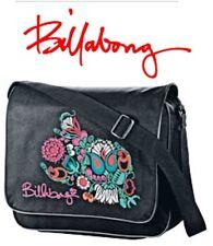 Billabong Womens Girls Messenger School Student Bag Satchel - Black Paisley