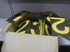 Yellow and Black Lettering Retail Menu Letters, Numbers, and Symbols