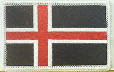 Islandia Bandera Bordado Plancha Patch Táctico Militar Black-White-Red Versión