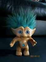 Vintage 7 inch Ace Novelty Troll Doll Star Belly Troll Movable Head And Arms.