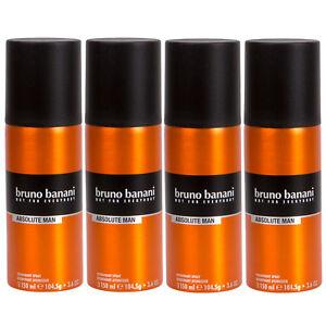 Bruno Banani ABSOLUTE MAN 4 x 150 ml Deo Spray Deodorant