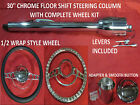30 Streethot Rod Chrome Tilt Steering Column Floor Shift Impala Wheel