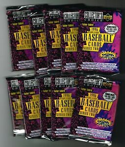 Lot Of (10) UNOPENED 1996 Upper Deck Collectors Choice S2 Baseball Packs