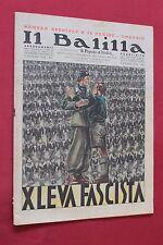 rivista a fumetti IL BALILLA Supplemento Popolo d'Italia NUMERO SPECIALE (1936)