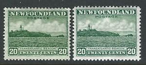 Bigjake: Newfoundland #s196 & 263,  20 ct. Cape Race