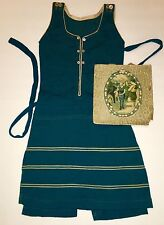 RARE VTG 1910's By RUTH E. MANLY WOOL SWIMSUIT ANTIQUE Great Display