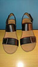 Clarks Auriel Fin Wedges Sandals Black Size UK 6