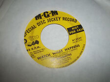 THE ROYALETTES MGM PROMO DJ 45 WATCH WHAT HAPPENS/ POOR BOY VG