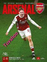 Arsenal v Newcastle United PREMIER LEAGUE Programme 18/01/21 IMMEDIATE DISPATCH!