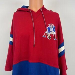 Mitchell And Ness New England Patriots Short Sleeve Fleece Hoodie Sweatshirt 3XL