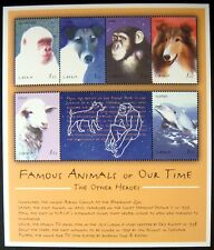 2001 MNH LIBERIA FAMOUS ANIMALS STAMPS SHEET FLIPPER LASSIE DOLLY THE SHEEP HAM