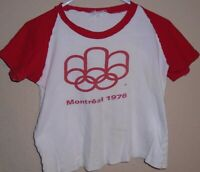 vintage 1976 olympic games t shirt Small
