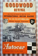Goodwood Revival Meeting Race Card (Booklet) - 2004.