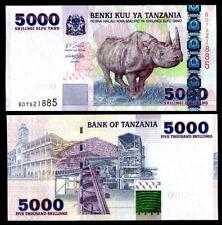 TANZANIA 5000 5,000 SHILLINGS 2003 P 38 UNC