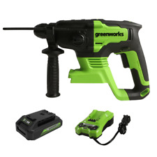 Greenworks 24v Rotary Hammer Drill Brushless Sds Plus 4 Functions With 2ah Battery