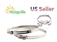 """Hongville 1 Pair Stainless Steel Adjustable Worm Gear Hose Duct Clamp 4-14"""" inch"""