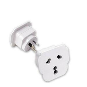 Sansai STV-15 Universal Travel Adaptor white color use in Australia / NZ sockets