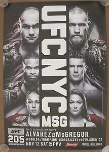 Official UFC 205A Alvarez vs Conor McGregor Poster 27x39 (Near Mint)