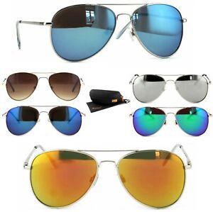 Piloten Sonnenbrille Pilotenbrille Edelstahl Federschanier Rennec A21 Brillenbox