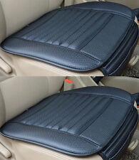 2 X Universal Cuero PU Silla de oficina de coche negro carbón de bambú almohadillas de cubierta de asiento