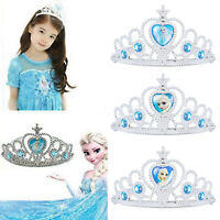 Cute Frozen Princess Elsa Anna Cosplay Costume Crown Tiara Headband Girls Toys