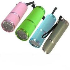 9 LED ULTRA BRIGHT RUBBER GLOW IN THE DARK LUMINOUS TORCH WITH CARRY HANDLE
