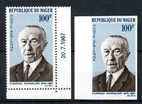 Niger MiNr. 168 A + B postfrisch MNH Adenauer (O6414