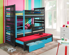 Bunk Bed ROLAND 3 Single Size Triple Kids Sleeper Children's Bed Custom Colours