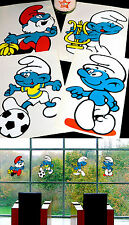 4 Giant Smurf Window Sticker Möbeldeko 70er Puffi Smurf Smurf Children