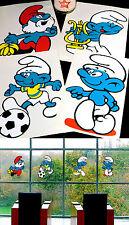 4 gigantes Pitufo ventana imágenes möbeldeko 70er Puffi Smurf schtroumpf niños