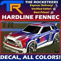 [PC] Rocket League Every Hardline Fennec Decal Lime, Titanium White, Grey etc.