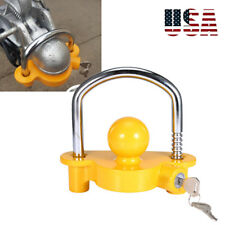 Lock For Trailer Tongue Hitch Rv Camper Boat Coupler Towing Security Set Travel