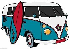 Camper Van Motorhome camping-car Autocollant Decal étiquette en vinyle graphique V2