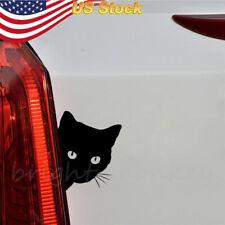 Sticker Black Cat Face Peering Funny Car Decal Window Truck Auto Bumper Laptop