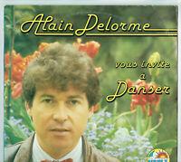 """33 tours Alain DELORME Disque Vinyle LP 12"""" VOUS INVITE A DANSER - FLEURY 17951"""