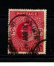 5/- Denomination British Edward VII Stamps