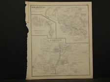 New Hampshire, Grafton County Map, Dorchester, Dbl. Pg. Reversible 1892 L4#05