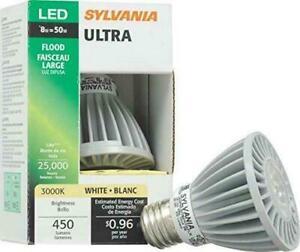 Sylvania 72571 Ultra Par20 ED Bulb, 8 Watt, 3000k 120v 450 Lumens
