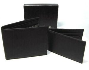 Mens CONVERTIBLE BILLFOLD + PASSCASE WALLET Buxton Black Faux Leather RFID NEW