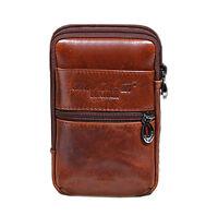 Men Leather Cell/Mobile Phone Case Cover Hip Bum Belt Fanny Pack Waist Bag Purse