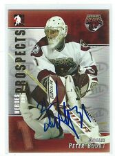 Peter Budaj Signed 2004/05 Heroes and Prospects Card #11