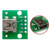 mini USB to DIP Adapter Converter for 2.54mm PCB Board DIY Power Supply S8 1PCS