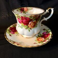 ROYAL ALBERT Fine Bone China 'Old Country Roses' DEMITASSE TEACUP & SAUCER