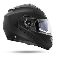 ATO Montreal Klapphelm Doppelvisier schwarz matt M ECE 2205 Motorradhelm Helm