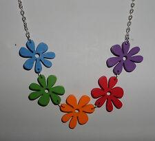 Flowers Plants Wood Strand/String Costume Necklaces & Pendants