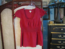 Anthropologie edme & esyllte 8 100% red cotton blouse 100% cotton