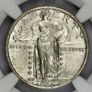 1928-S 1928 Standing Liberty Quarter NGC MS63+ beautiful original coin!