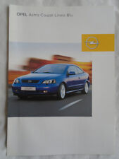 Opel Astra Coupe Linea Blu brochure Feb 2003 Swiss market French text